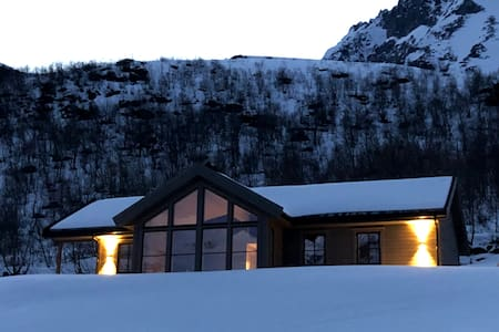 New cabin in the hart of the Sunnmørs alps.