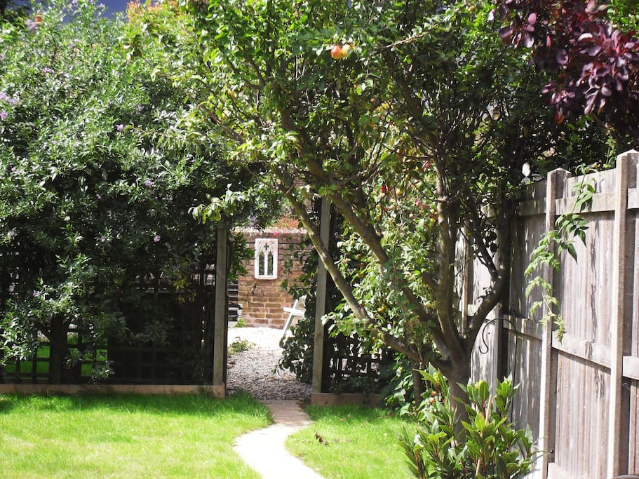 A secret garden - can be used as a smoking area.