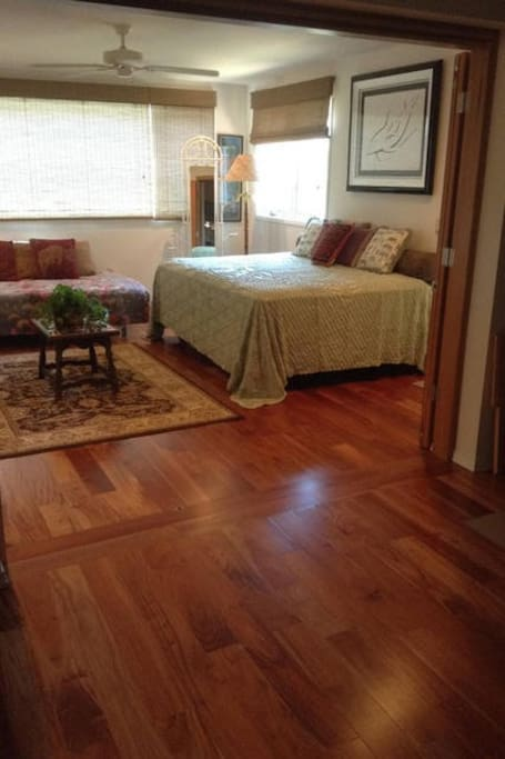 Bedroom 1 -  New queen bed and hardwood floors