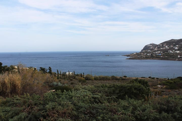Seaside Villa Ioanna 25' f/ airport superb views!