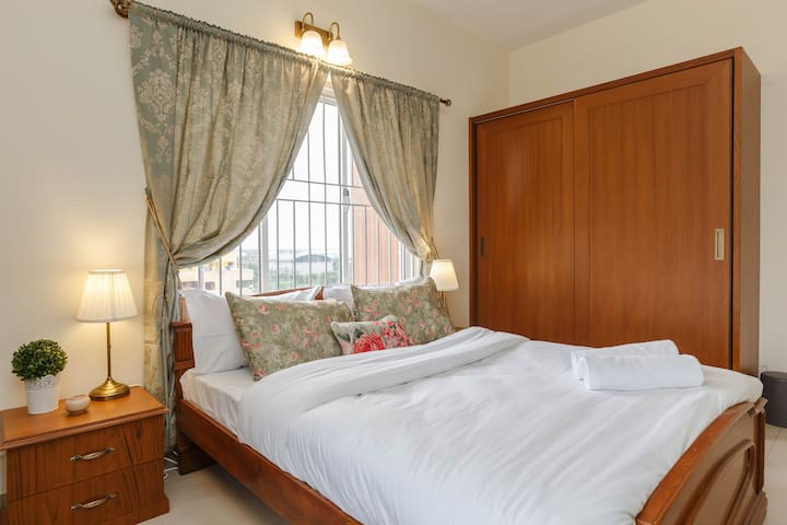 Master Bedroom - Our rooms come with all the essential linen and towels, with added feature of housekeeping.