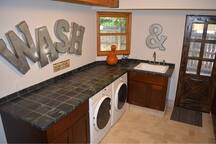 Washer and Dryer in Mud room