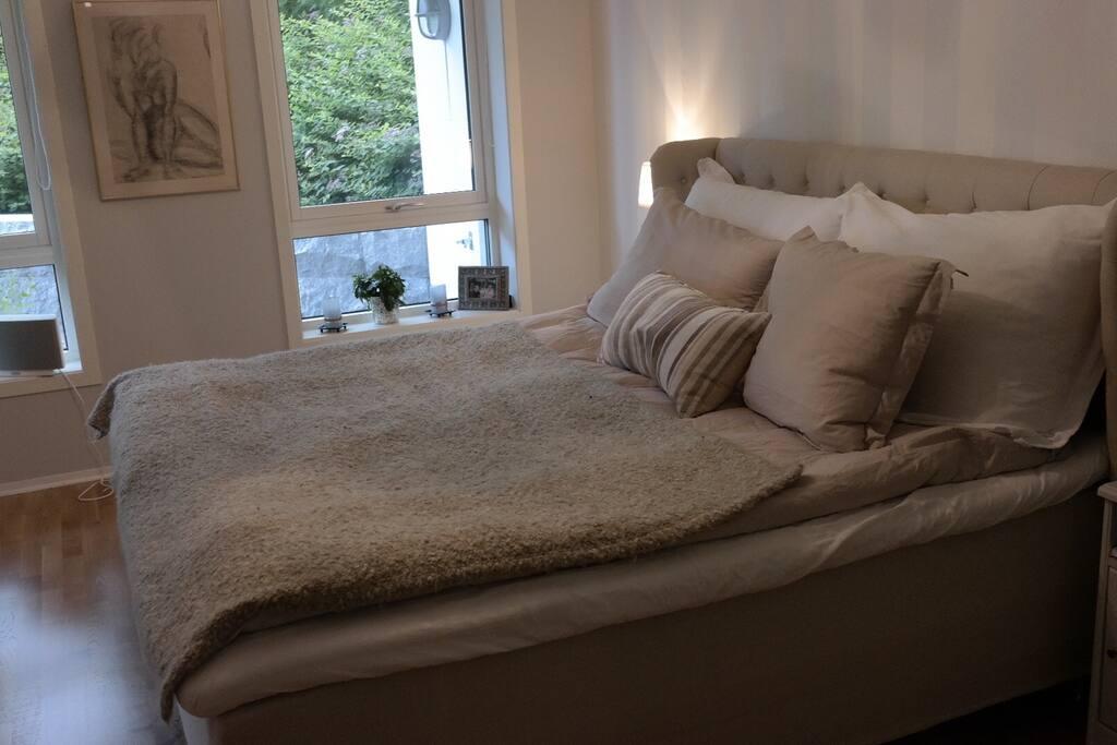 Master bedroom with ventilation