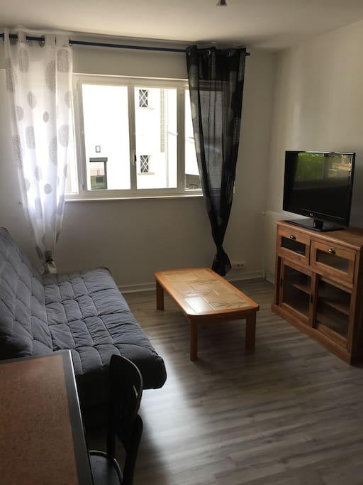 Studio neuf dans résidence calme, proche centre ville