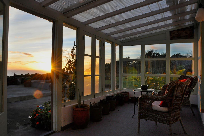 Wintergarden sunset