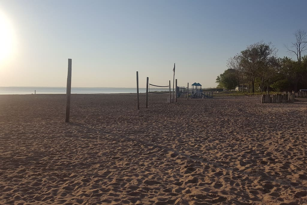 Volleyball nets at the park