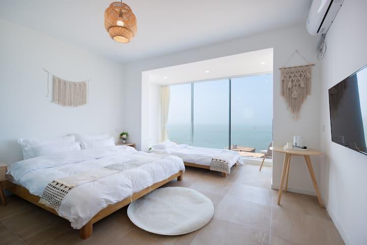 [连岛]里岸民宿~全海景落地窗看日出亲子房