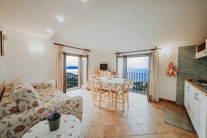 Pisciotta - Bilocale panoramico - 4 min dal mare