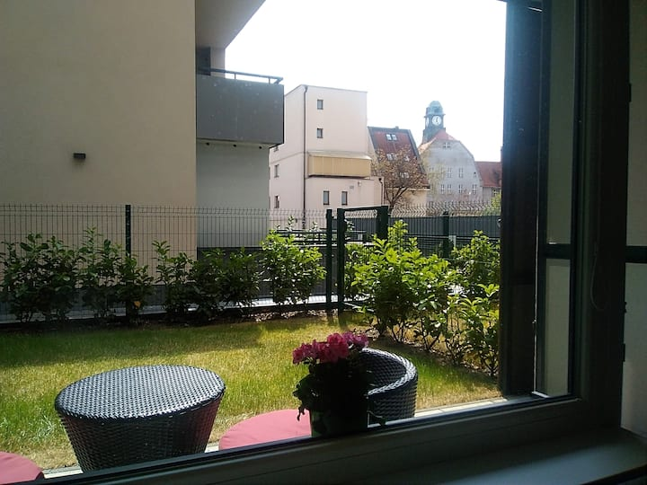 Studio with front garden in the heart of Kosice