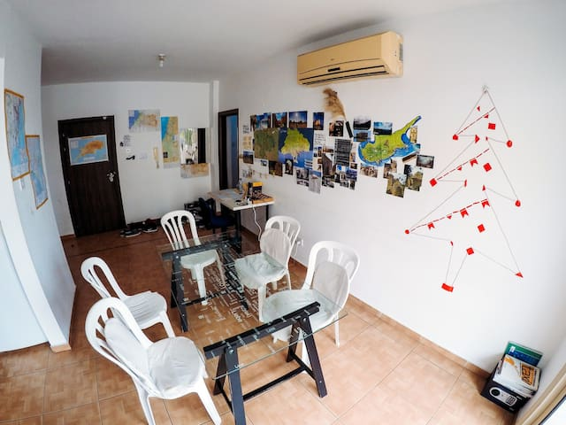 Comfortable rest and chat in Trip Yard Hostel