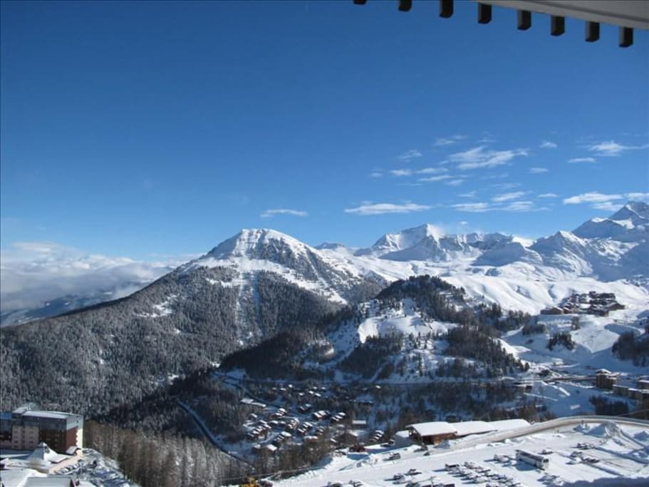 Amazing Views of La Plagne from 2100m