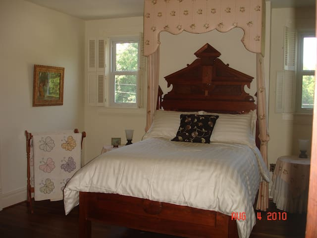 Double sized antique bed.