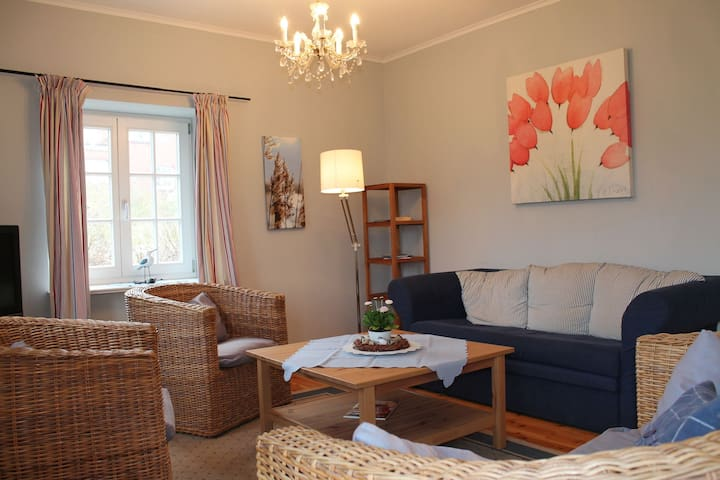 Stylishly furnished apartment in a large thatched house
