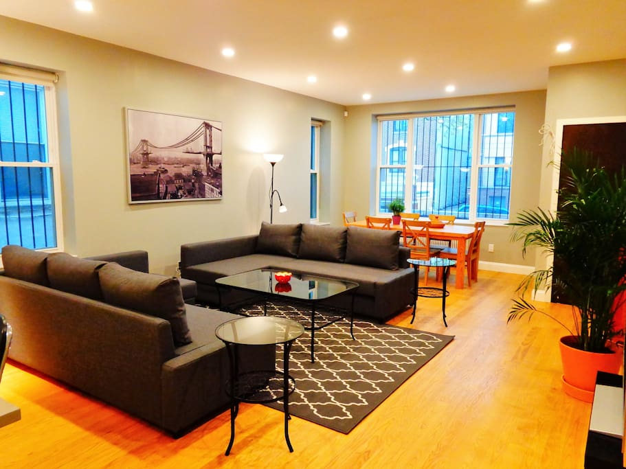 APT #1: Living and dining area.