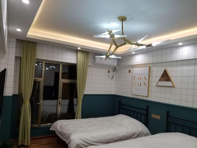 悦安苑 2号·一室双床独立卫浴·北欧风格·万达广场公寓