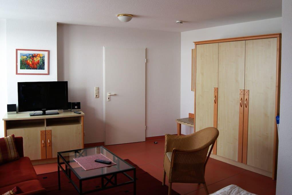 Wohn-/Schlafzimmer der Whg 310