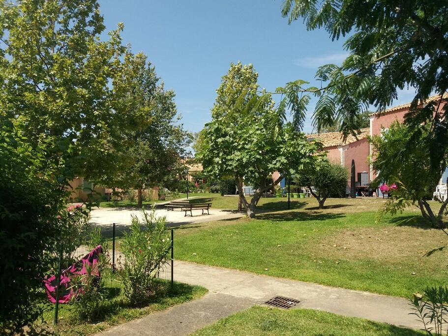 Jardin de la résidence