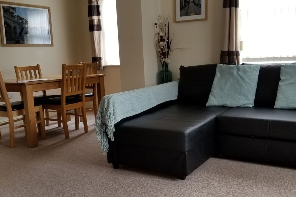 Our new sofa bed. Images will be updated soon.