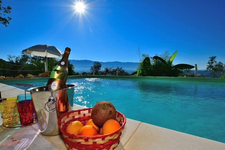 Loft1 with Swimming Pool View on the Chianti Hills