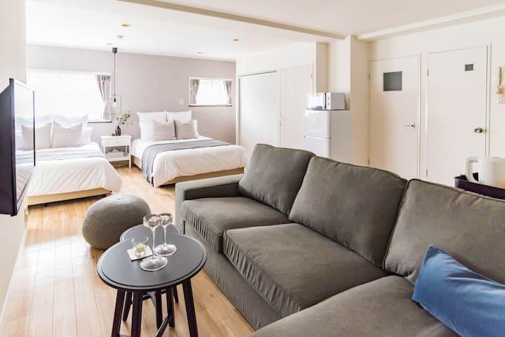 Designer room-1 mins to Namba-Bijou Suites Zero