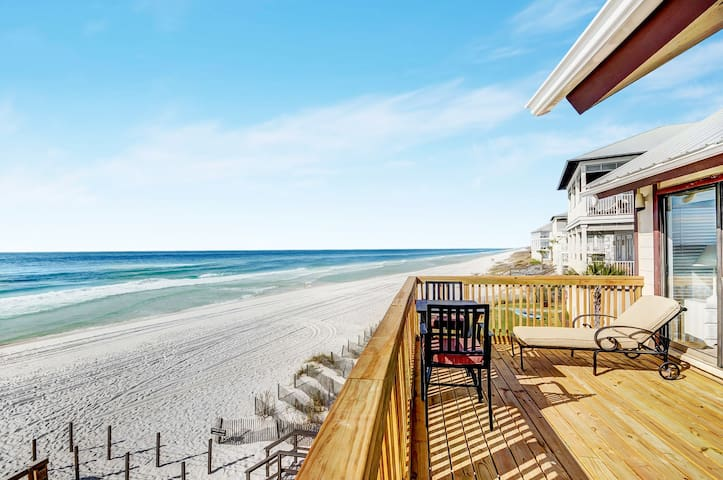 Beach Front☀3BR The Great Escape A☀Snowbirds Nov-Feb $2700/Mo! 30A Beach Service