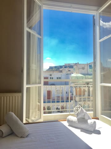 Acropolis view, central, charming studio in Psyrri