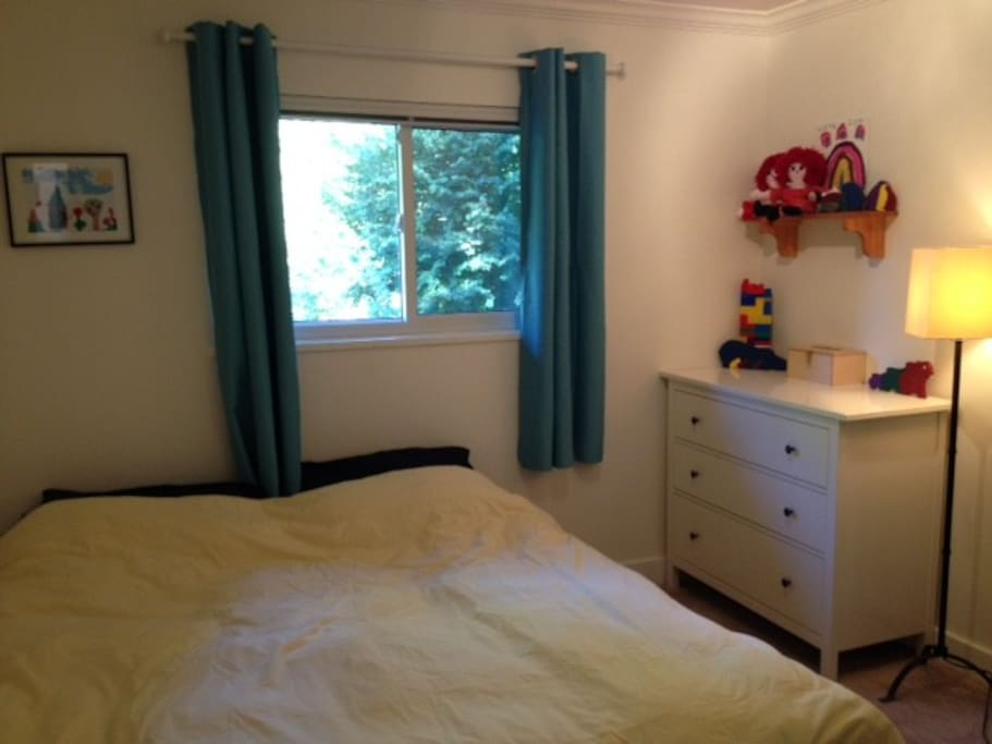 King Bedroom or it can be a single bed, lots of drawer space and medium sized closet