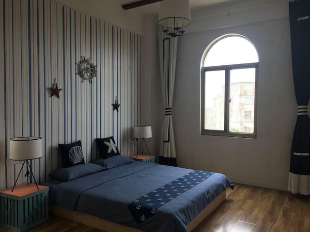 平潭渔宿 独栋别墅 2楼2地中海大床房0218 - fuzhou - Huis