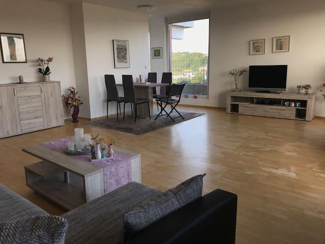 Wohn-/Esszimmer mit Blick zum Kücheneingang
