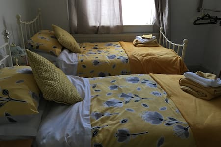 Lovely twin room , near Glastonbury high street