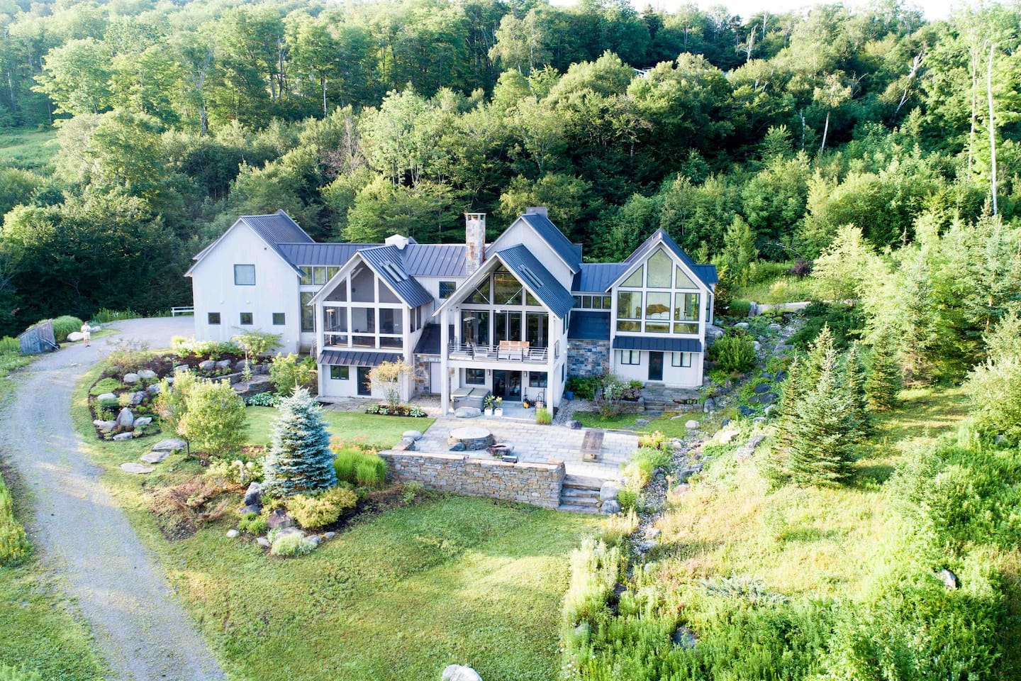 View from the rear of the property that's secluded in 46 acres