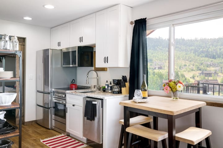 Fresh, updated kitchen with everything you need to cook a great meal.