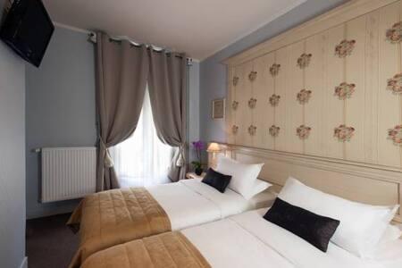 Chambre Twin - Hotel de Bellevue Gare du Nord *** - París