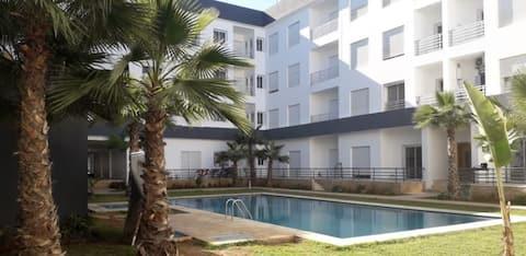 Bel appartement à Harhoura avec 2 piscines