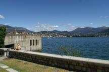 Sicht zum Becken von Lugano