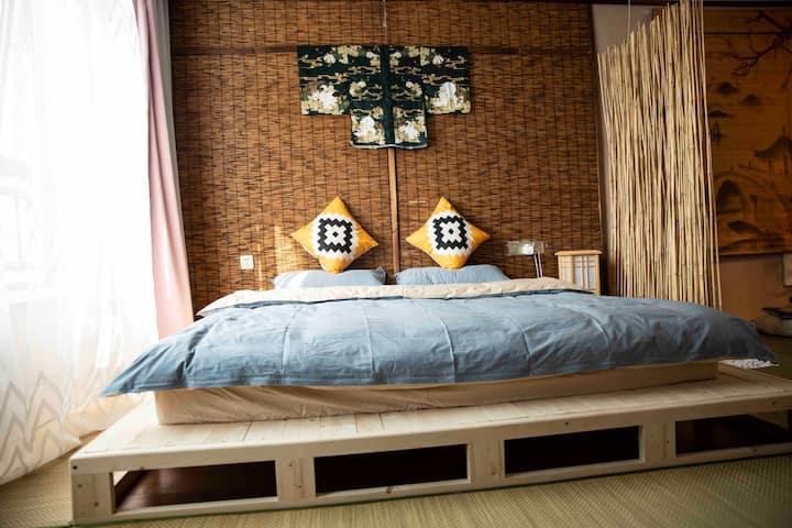 【南城素居】日式ins网红拍照·日式塌塌米100寸投影大床房