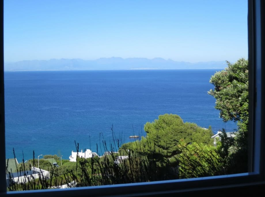 View from the apartment across False Bay