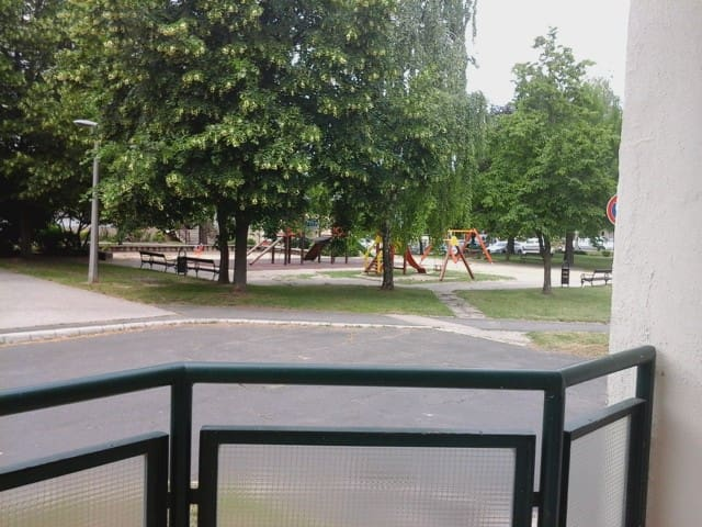 Quite family area with playground just outside.