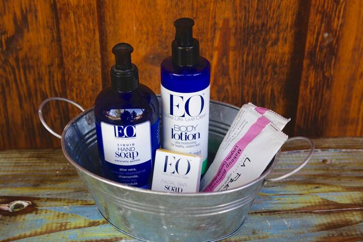 We provide EO soaps and lotions