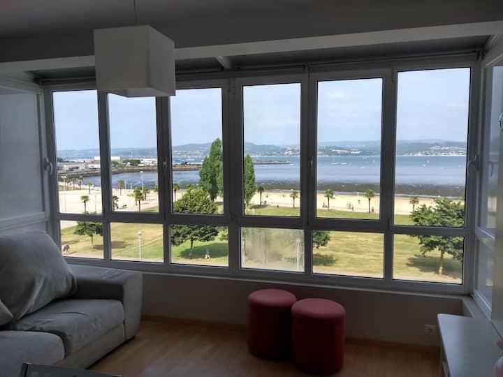 Apartamento con vistas al mar en Sada