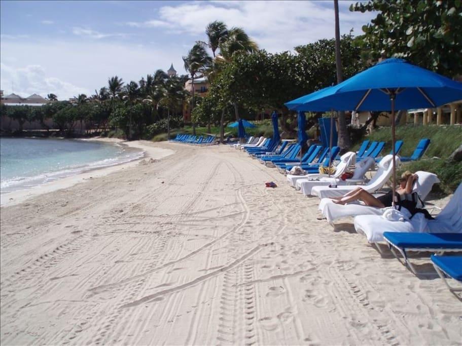 Ritz Carlton St. Thomas Destination Club beach