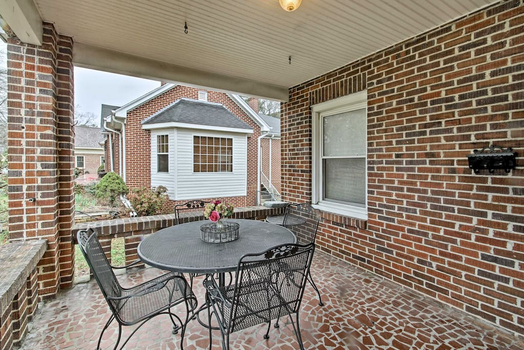 This updated brick bungalow was built in the 1930s!