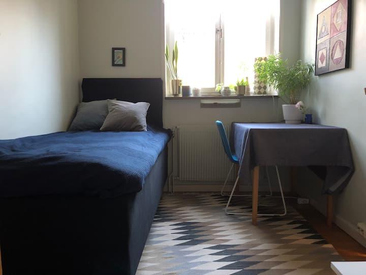 Comfortable bed at Gärdet!
