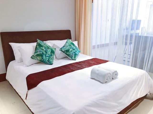 Comfy bed in bedroom 2