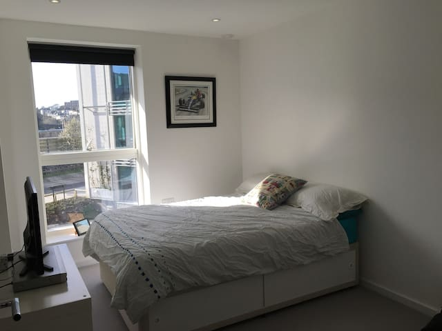 Double room with private bathroom next to station - Brighton - Apartment