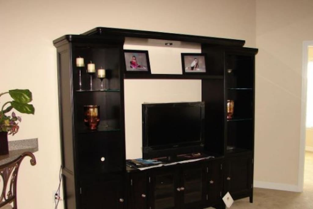 Entertainment center, cable TV