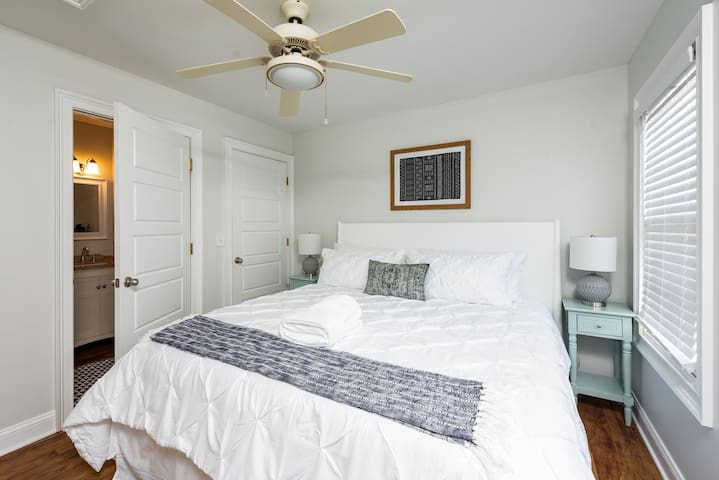 Bedroom #1 located on the second floor with a king bed + ensuite!