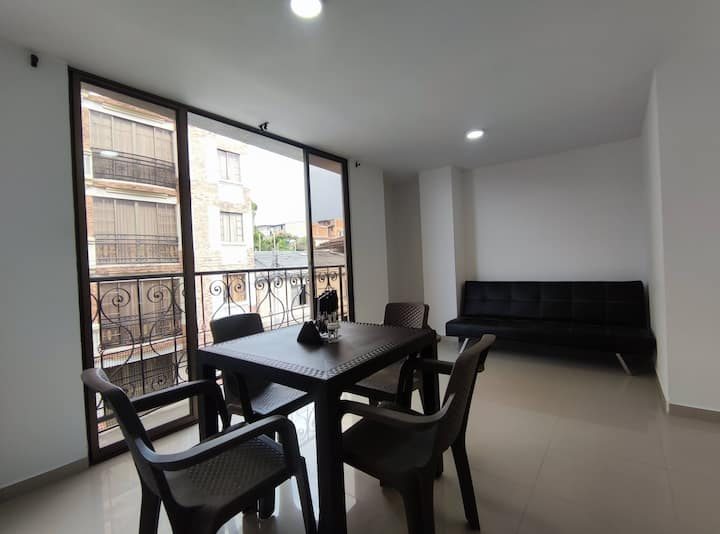 Central furnished aptment in StaRosa near Termales