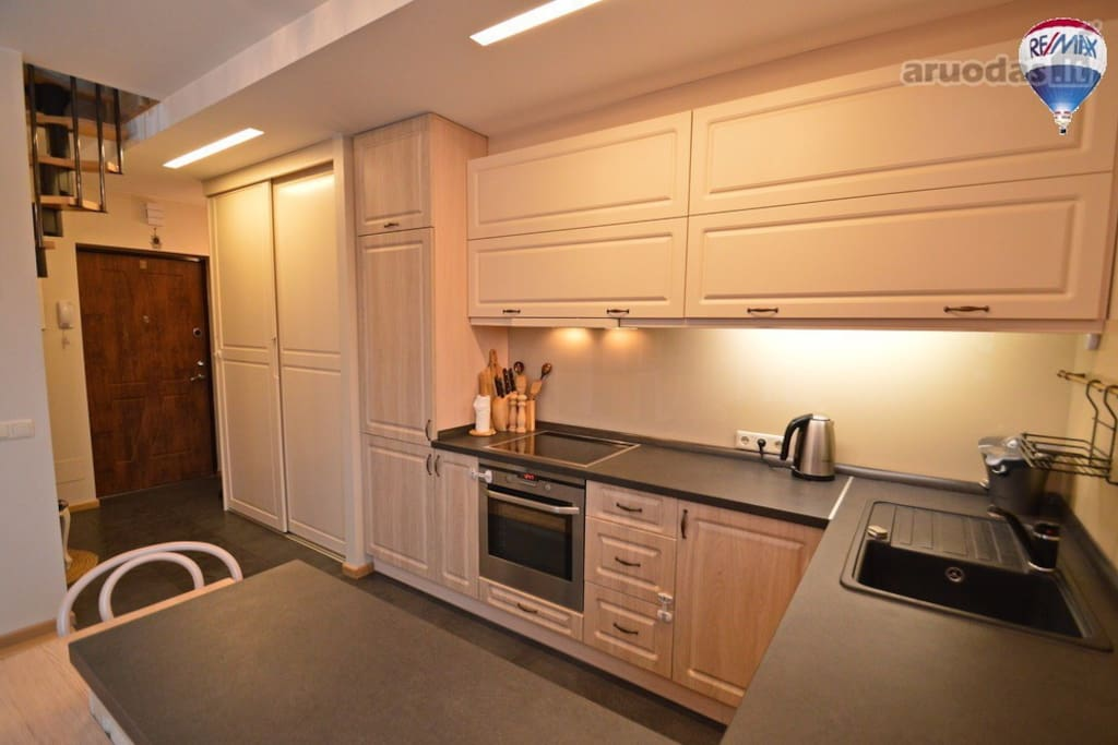 Functional kitchen with all necessary equipment (oven, dishwasher, fridge, etc.)
