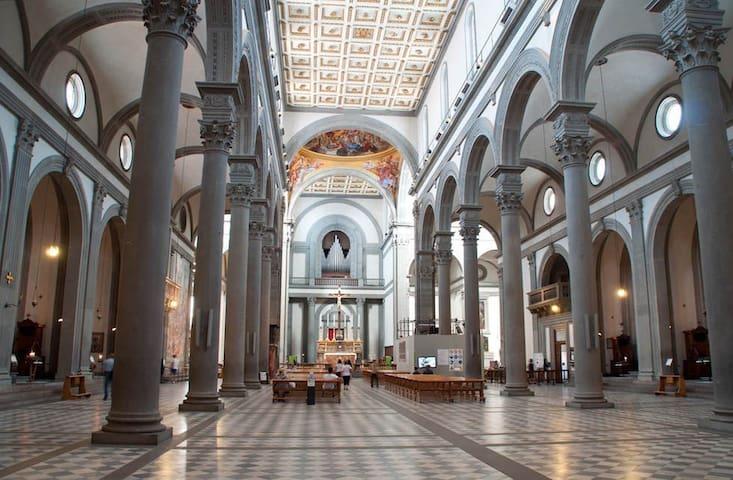 Interior of San Lorenzo, very near the apartment